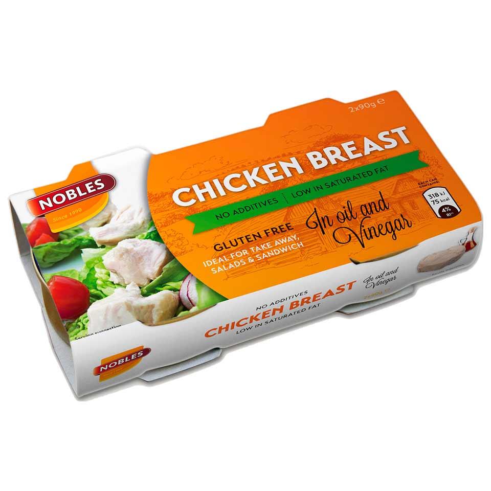 Nobles Chicken Breast Sunflower/Vinegar 180 gram - Nobles