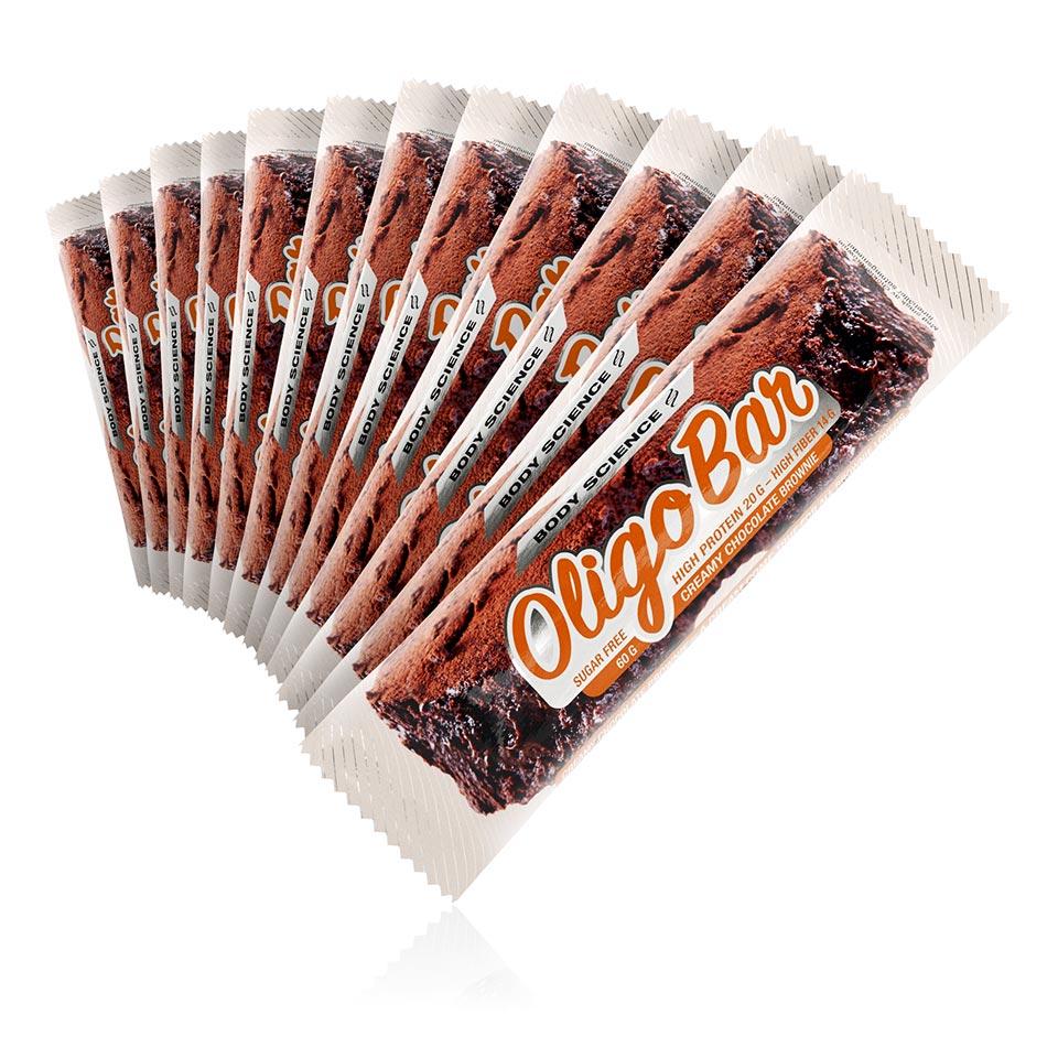 12 stycken Oligo Bar Creamy Chocolate Brownie protein bar