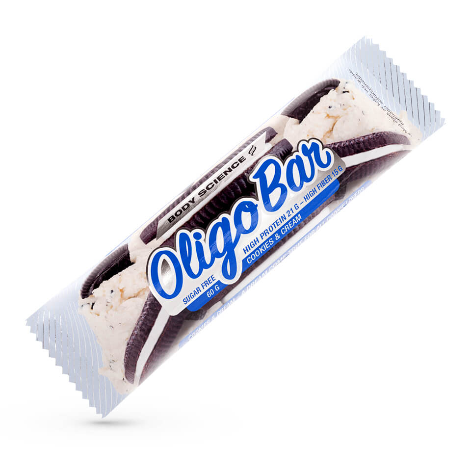 Protein bar – Body Science Oligo Bar, Cookies 'n Cream, 60 g - Bars - Body Science