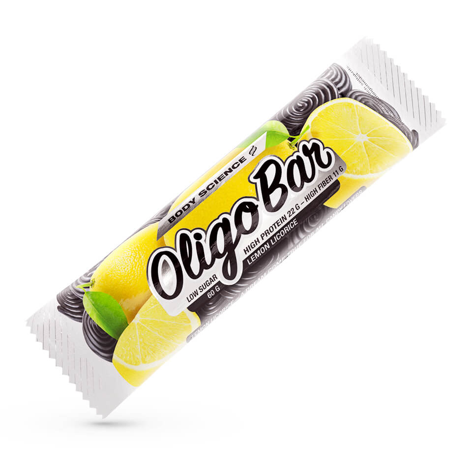 Protein bar – Body Science Oligo Bar, Lemon Licorice, 60 g - Bars - Body Science