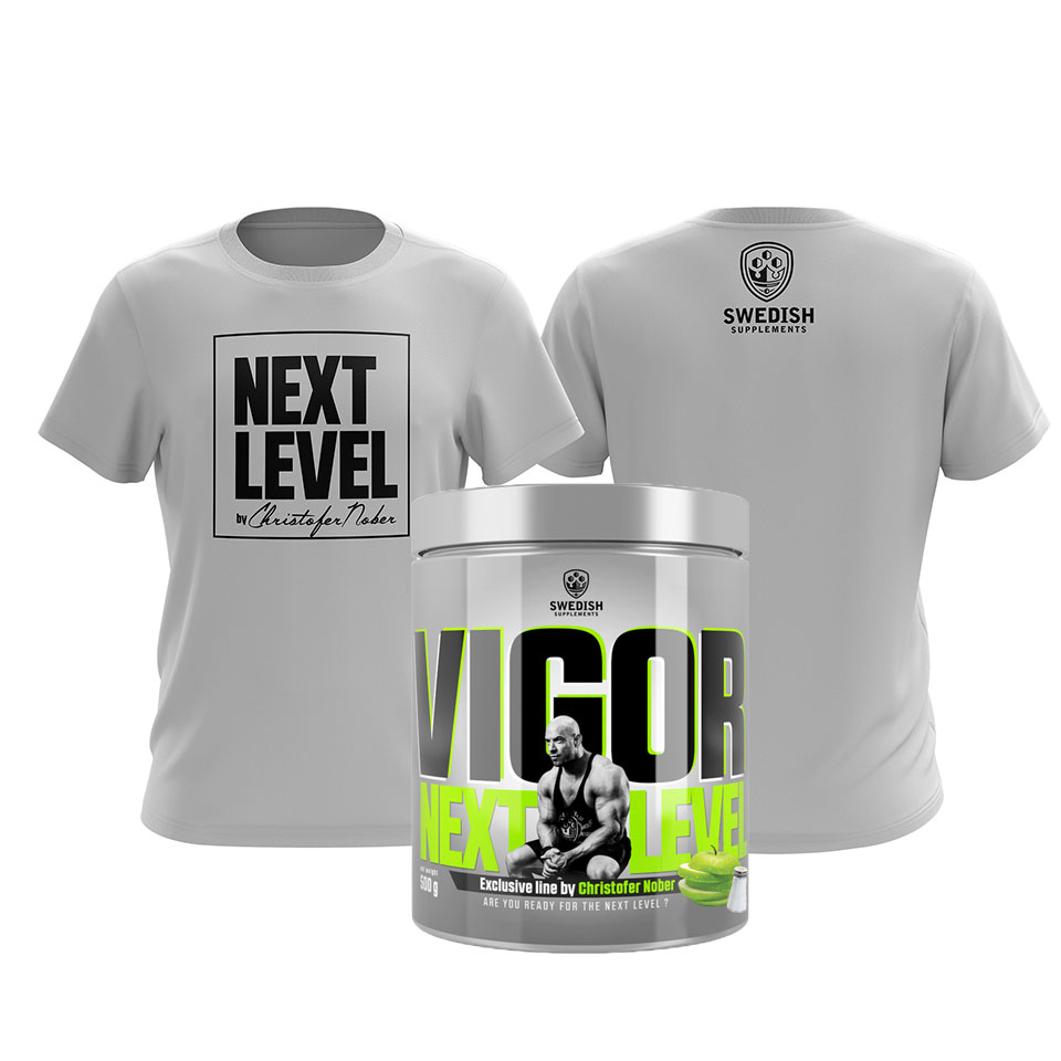 Vigor + T-shirt på köpet