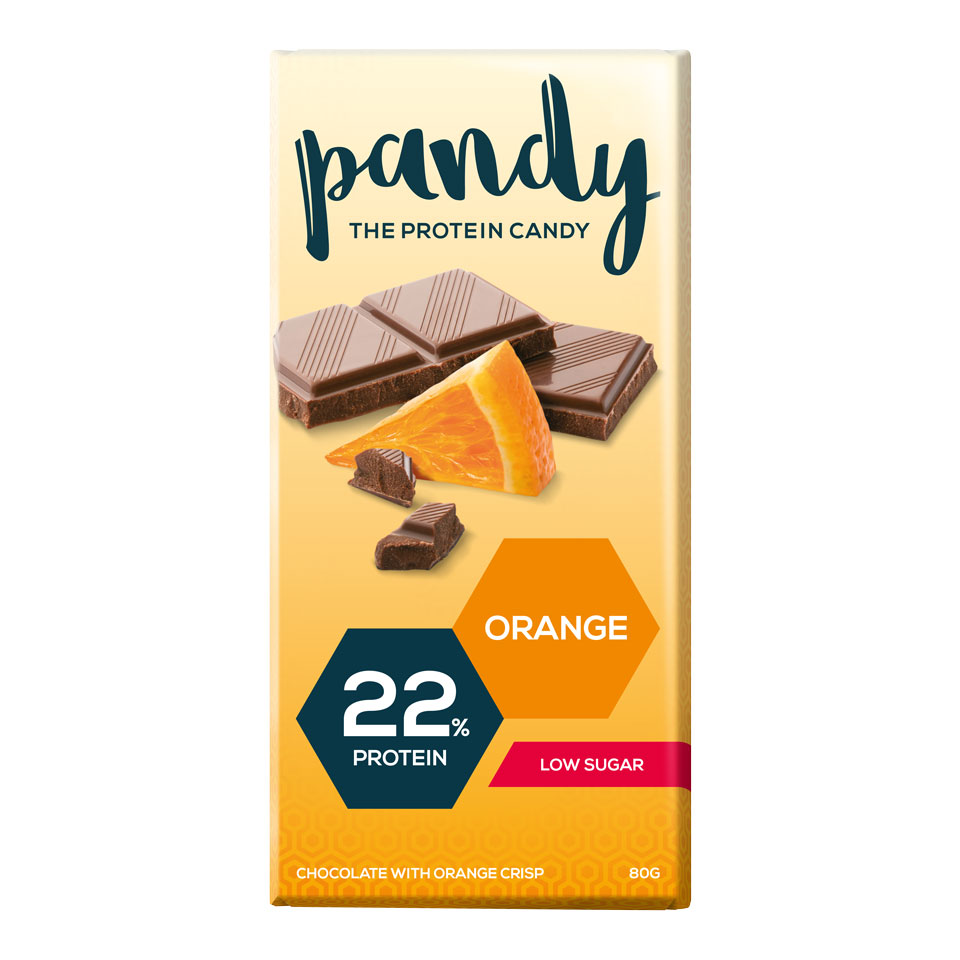 Pandy Protein Candy Pandy Protein Chocolate 80 gram Orange - Pandy Protein Candy