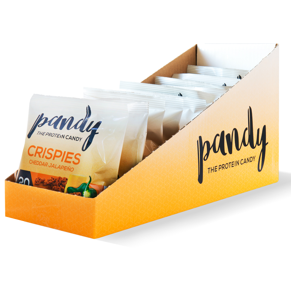 Pandy Protein Crispies - 10st hel låda