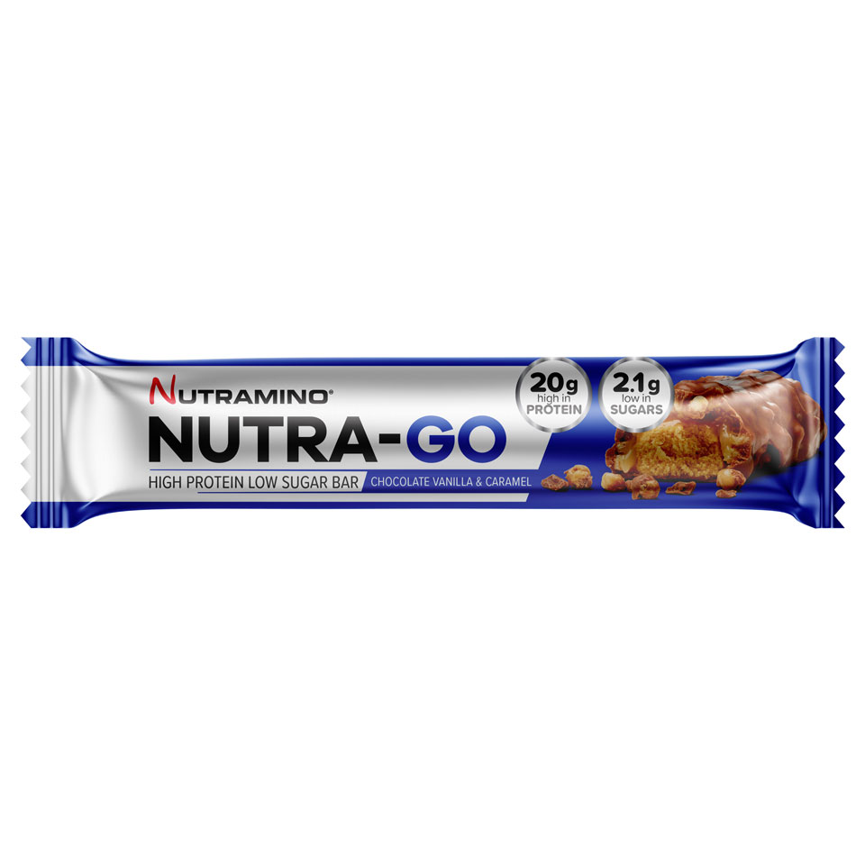 Nutramino Nutra-GO LS Proteinbar 64 gram Chocolate Vanilla & Caramel - Nutramino