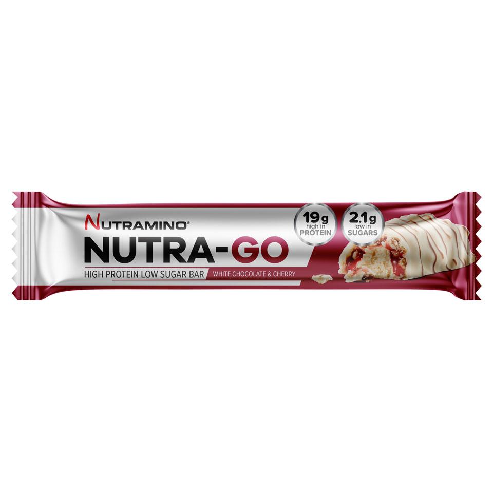 Nutramino Nutra-GO LS Proteinbar 64 gram White Chocolate & Cherry - Nutramino