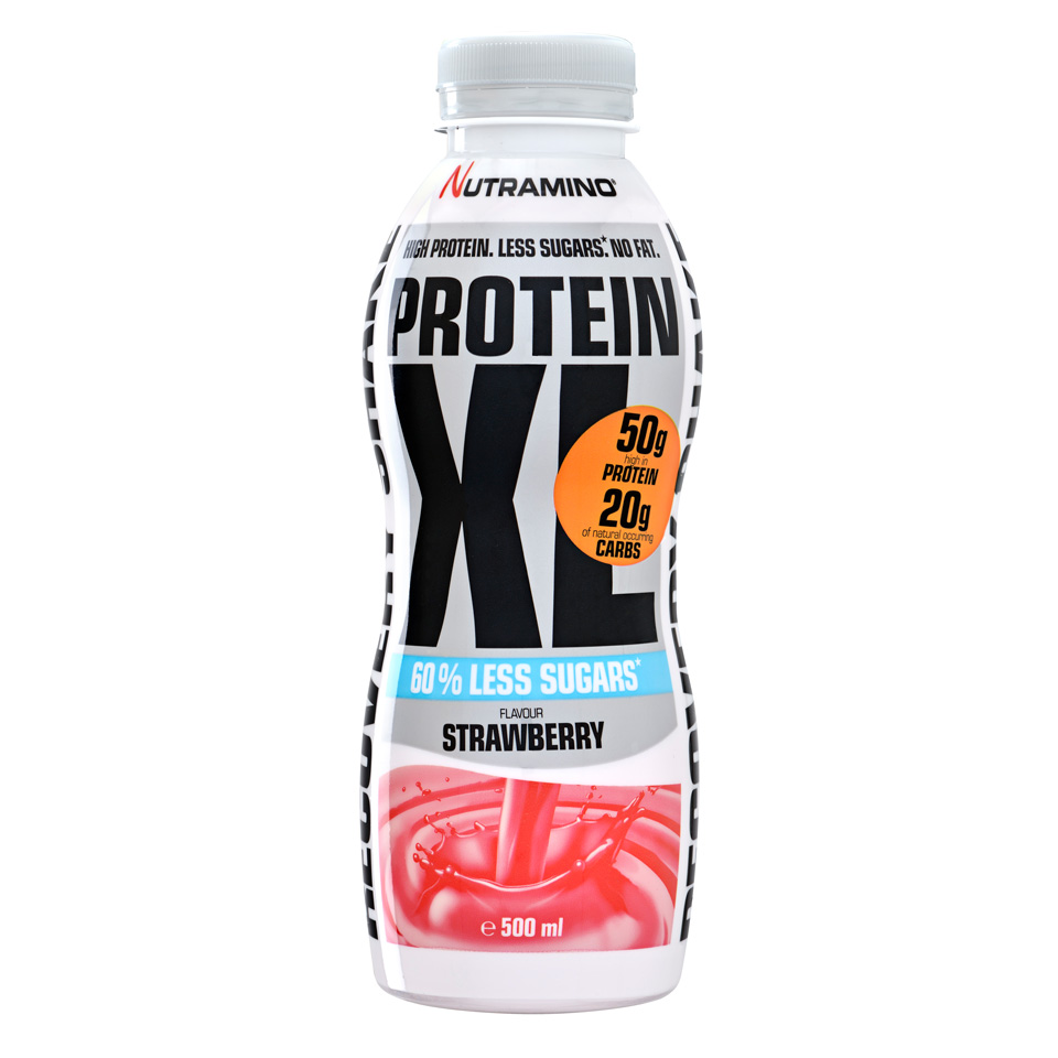 Nutramino Protein XL Shake - Less sugar 500 ml Strawberry - Nutramino