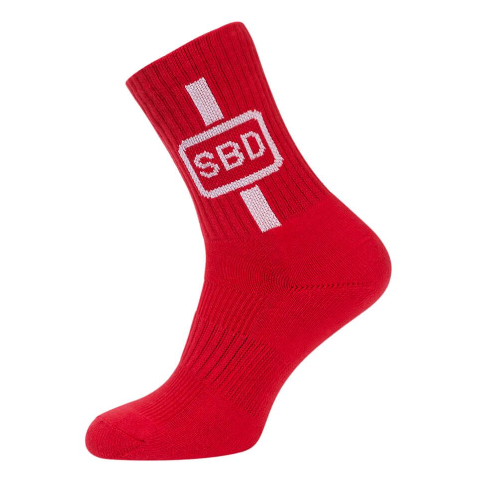SBD Sport Socks, Red/White
