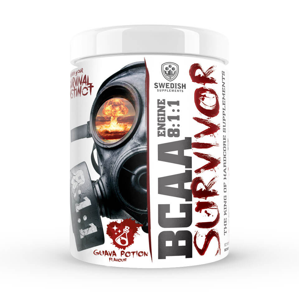 Swedish Supplements BCAA Survivor Engine 8:1:1 400 gram Guava Potion - Swedish Supplements