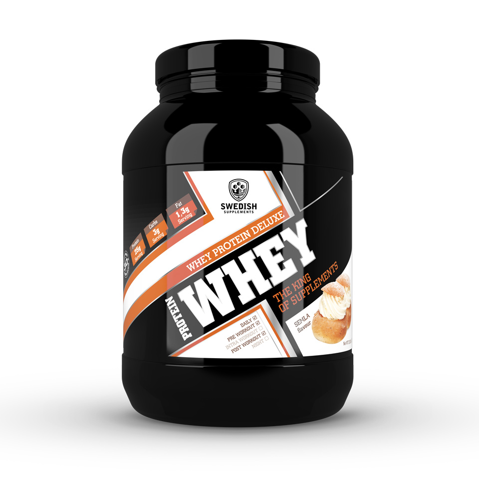 1 kg Swedish Supplements Whey Protein Deluxe Semla