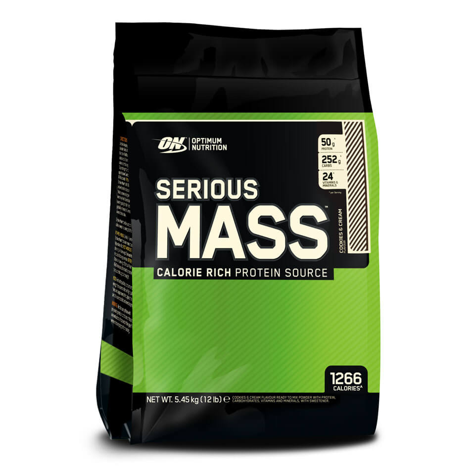 Optimum Nutrition Serious Mass 5,45 kg Cookies & Cream - Optimum Nutrition