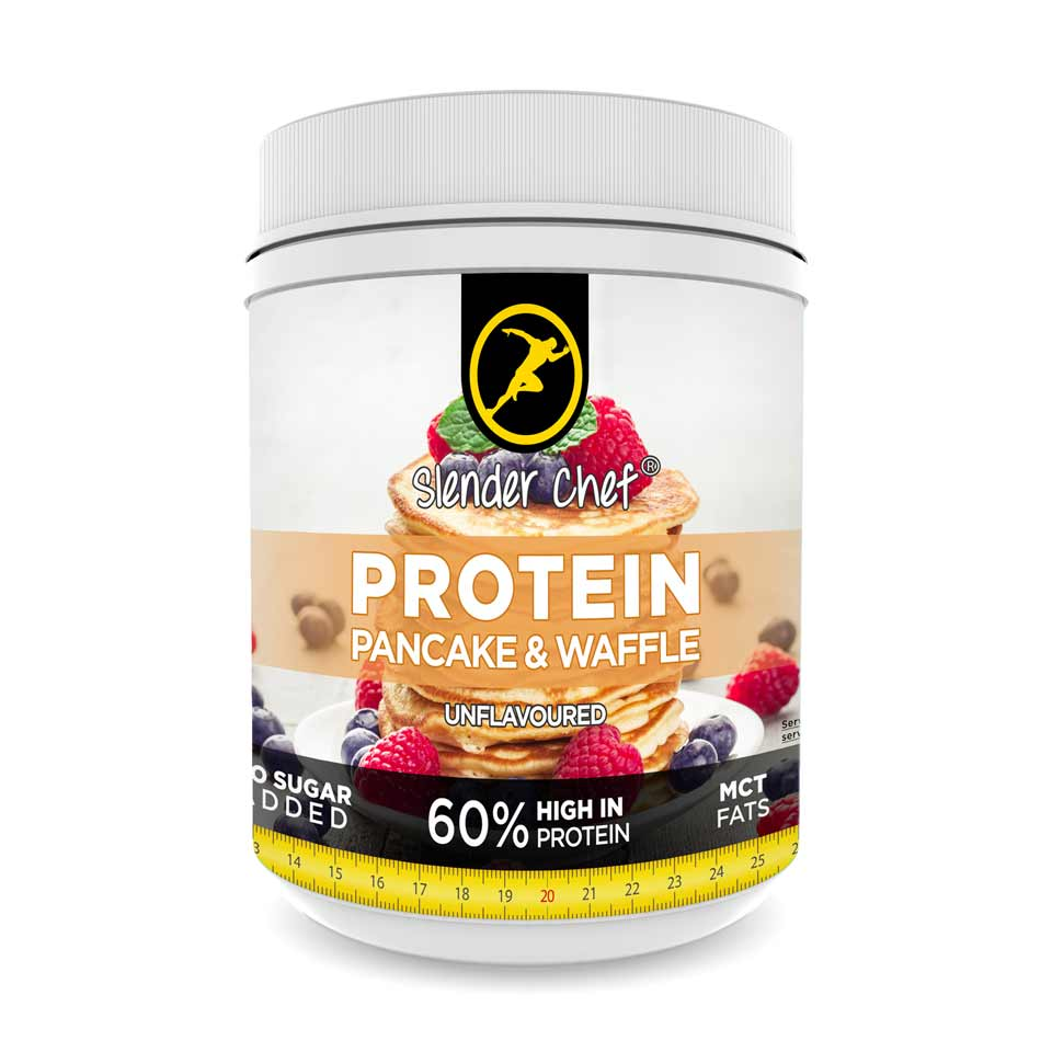 Slender Chef Protein Pancake & Waffle Mix 500 gram Unflavored & Unsweetened - Slender Chef