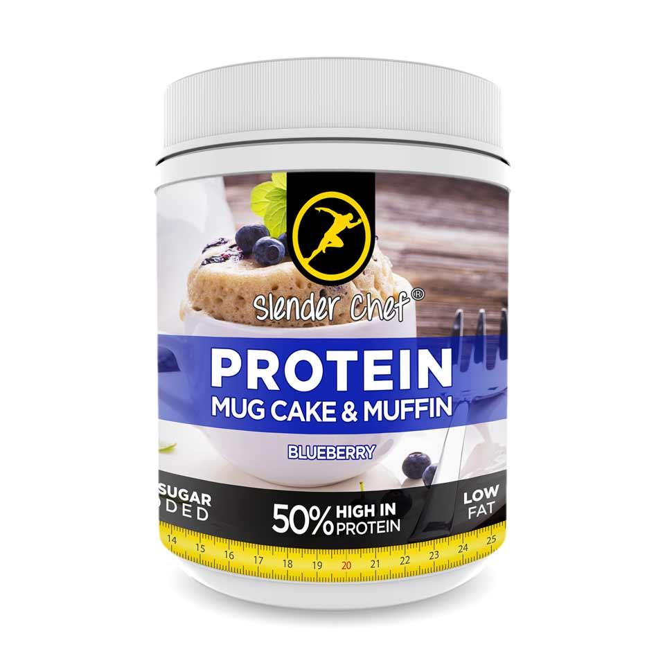Slender Chef Protein Mug Cake & Muffin Mix 500 gram Blueberry - Slender Chef