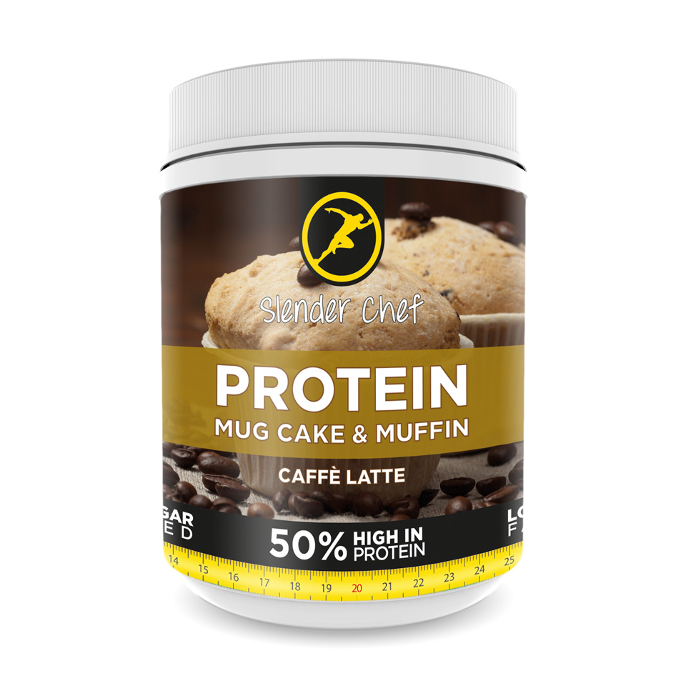 Slender Chef Protein Mug Cake & Muffin Mix 500 gram Caffè Latte - Slender Chef