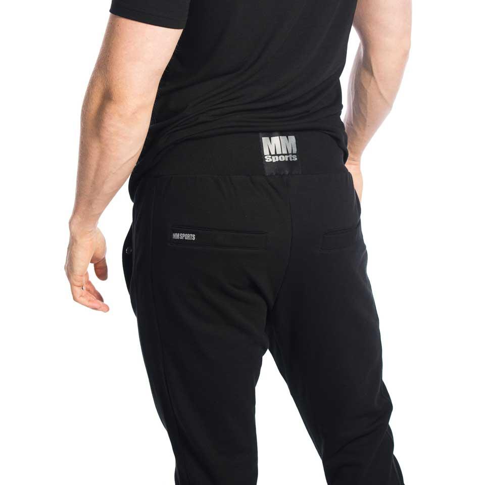 Baksidan av svarta MM Tapered Pants Stanley byxor