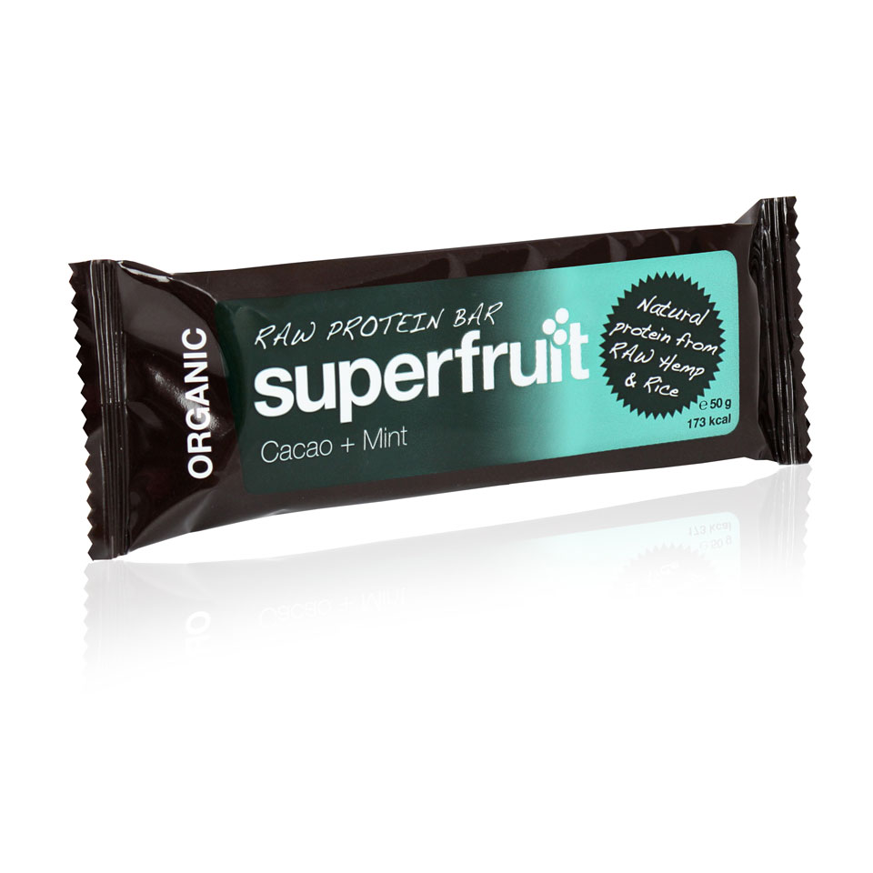 Superfruit Organic Raw Protein Bar 50 gram Cacao/Mint - Superfruit