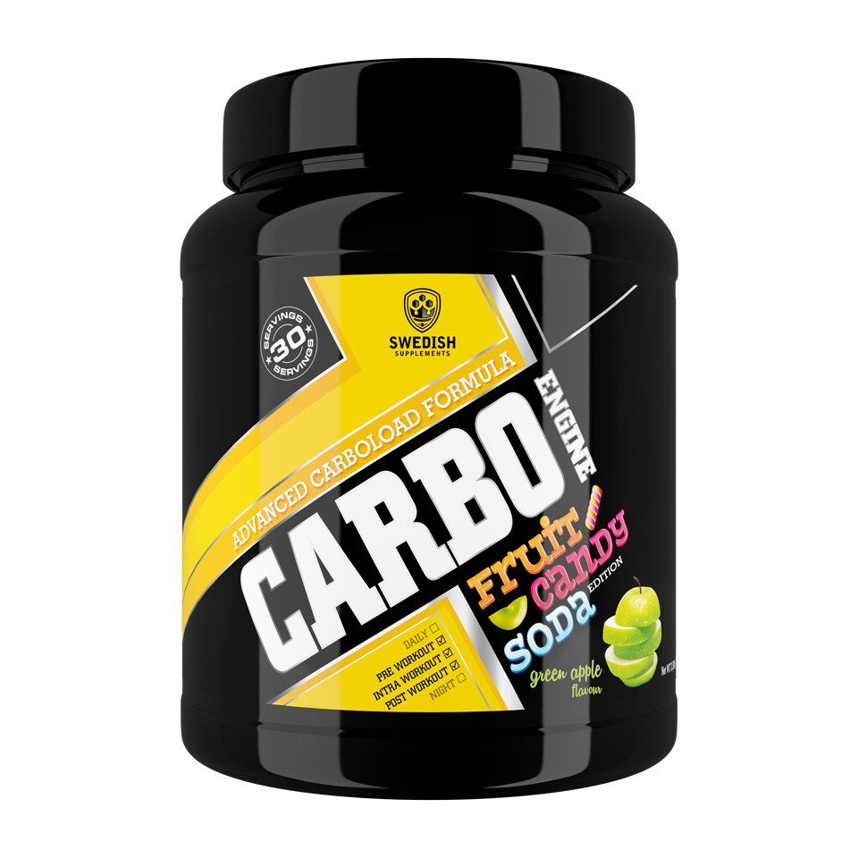 Swedish Supplements Carbo Engine 1000 gram Green Apple - Swedish Supplements
