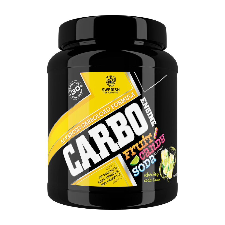 Swedish Supplements Carbo Engine 1000 gram Refreshing Soda - Swedish Supplements