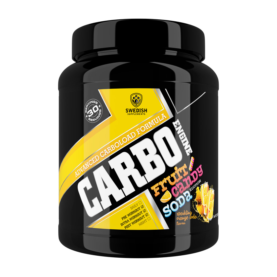 Swedish Supplements Carbo Engine 1000 gram Sparkling Orange Soda - Swedish Supplements
