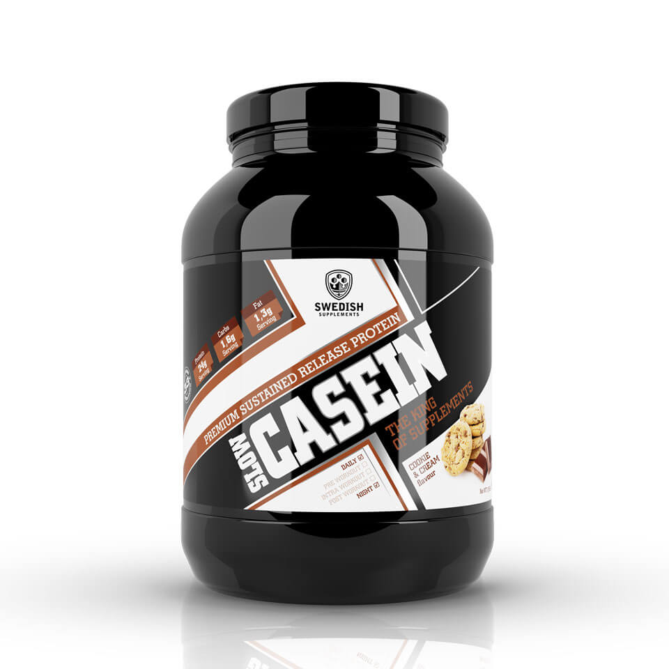 Swedish Supplements Slow Casein 900 gram Cookie & Cream - Swedish Supplements