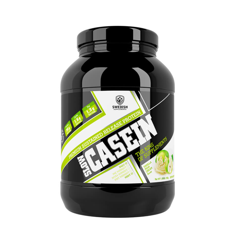 Swedish Supplements Slow Casein 900 gram Vanilla Pear Cream - Swedish Supplements