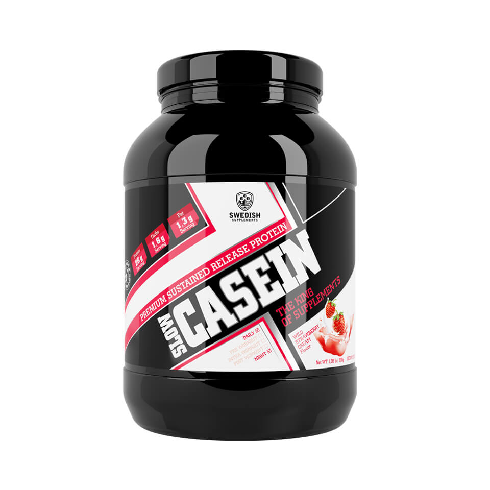 Swedish Supplements Slow Casein 900 gram Wild Strawberry Cream - Swedish Supplements