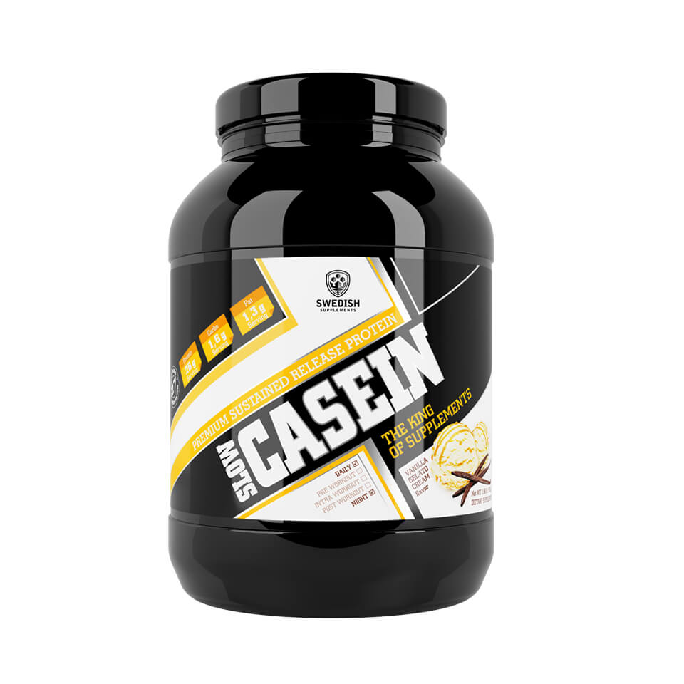 Swedish Supplements Slow Casein 900 gram Vanilla Gelato Cream - Swedish Supplements