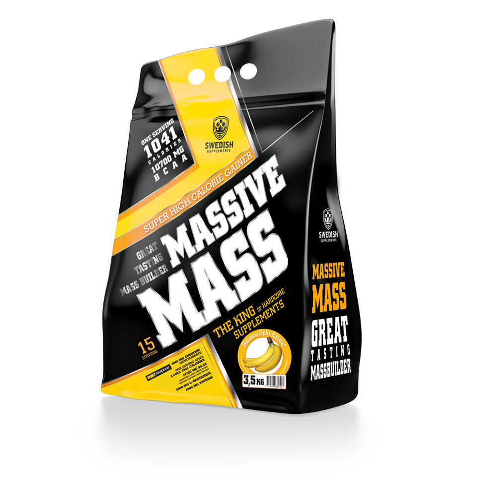 Swedish Supplements Massive Mass, 3500 gram 3,5 kg Banana Split - Swedish Supplements
