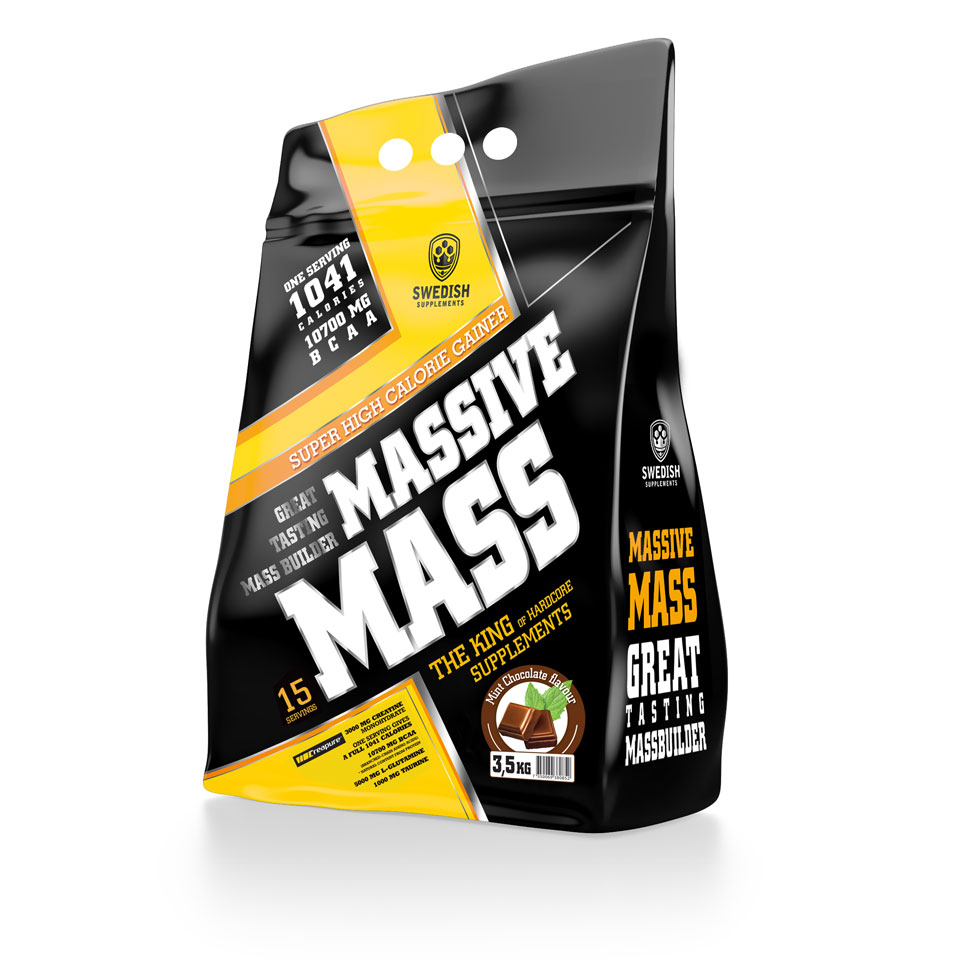 Swedish Supplements Massive Mass, 3500 gram 3,5 kg Mint Chocolate - Swedish Supplements