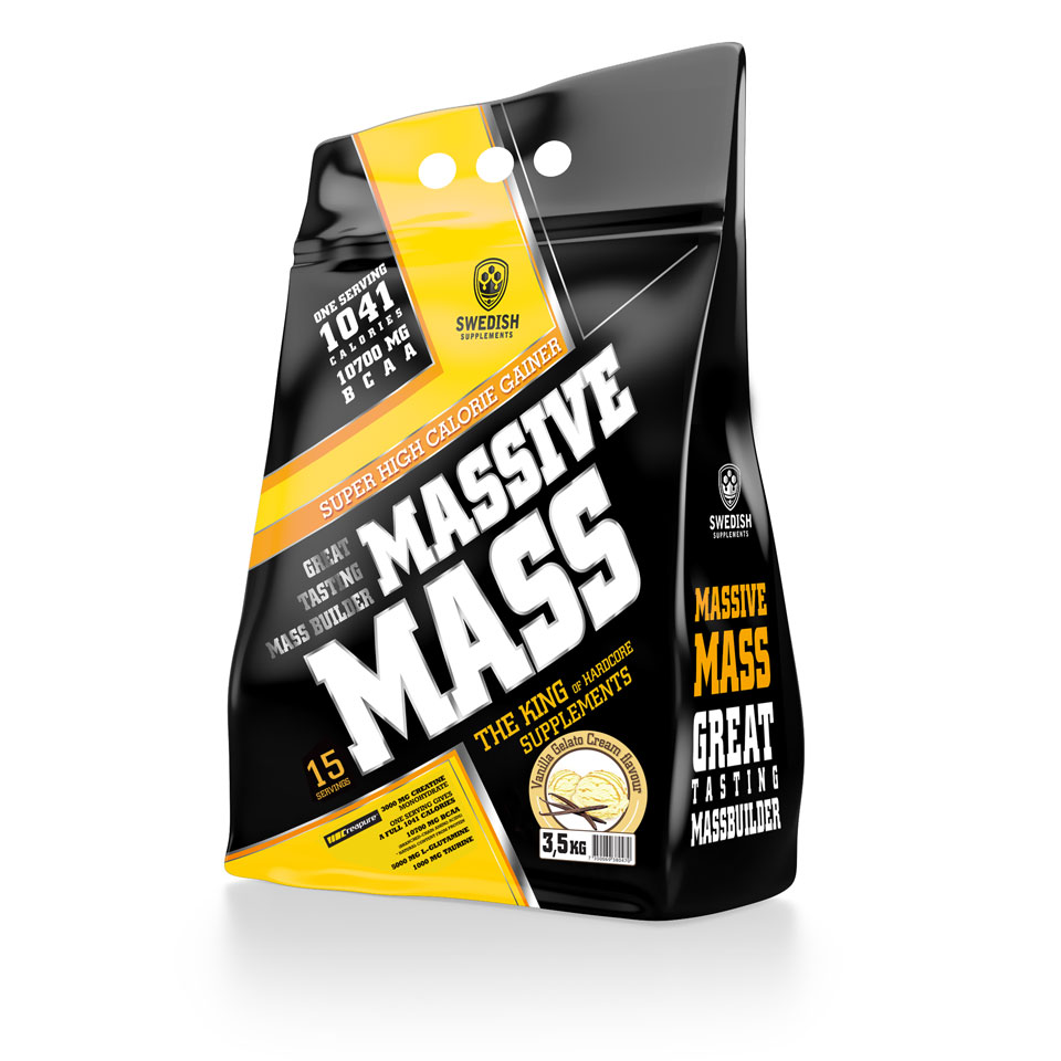 Swedish Supplements Massive Mass, 3500 gram 3,5 kg Vanilla Gelato Cream - Swedish Supplements