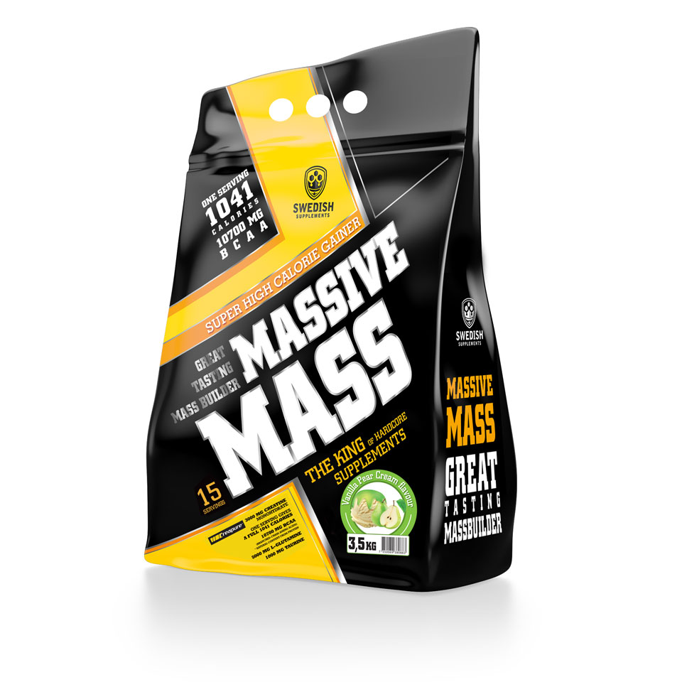 Swedish Supplements Massive Mass, 3500 gram 3,5 kg Vanilla Pear Cream - Swedish Supplements