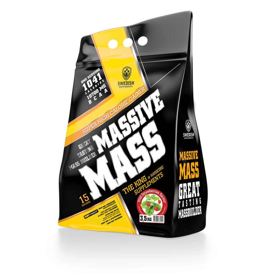 Swedish Supplements Massive Mass, 3500 gram 3,5 kg Wild Strawberry - Swedish Supplements
