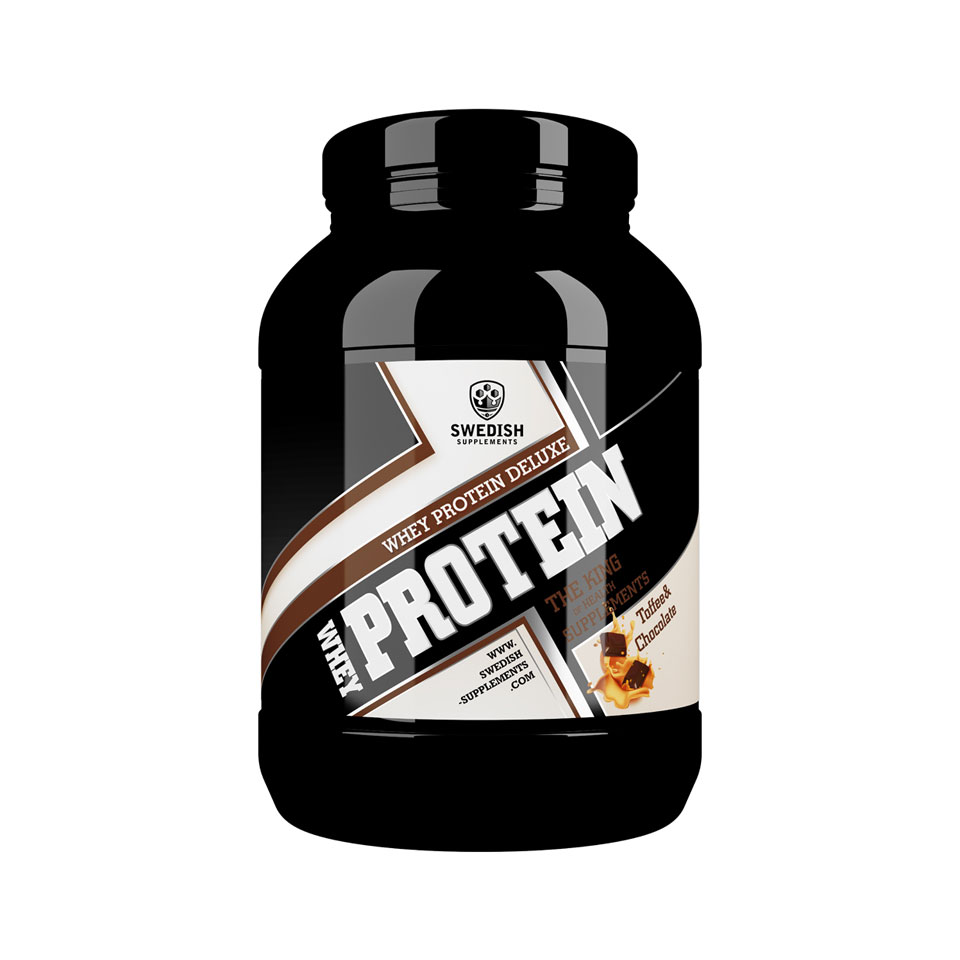 1 kg Swedish Supplements Whey Protein Deluxe Chocolate & Toffee