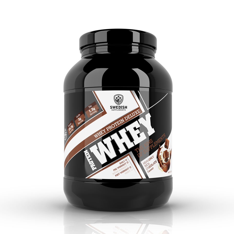 Swedish Supplements Whey Protein Deluxe 1000 gram Heavenly Rich Chocolate - Swedish Supplements