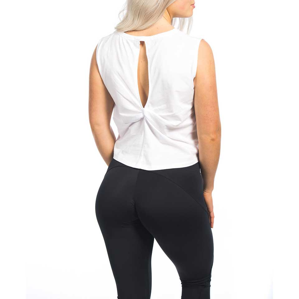 Twist Back Top Aria, White