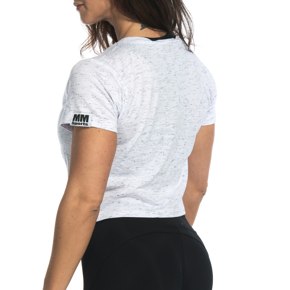 MM Sports Twist Tee Anja, White Melange t-shirt bakifrån
