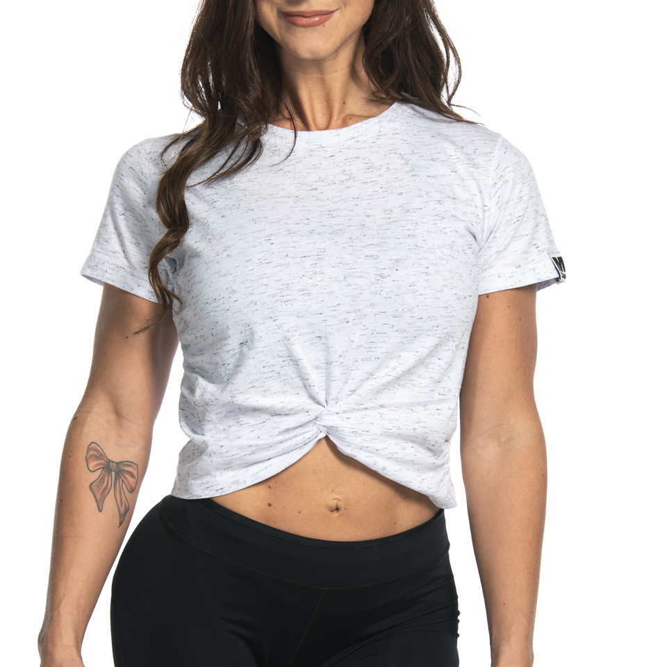 MM Sports Twist Tee Anja, White Melange t-shirt