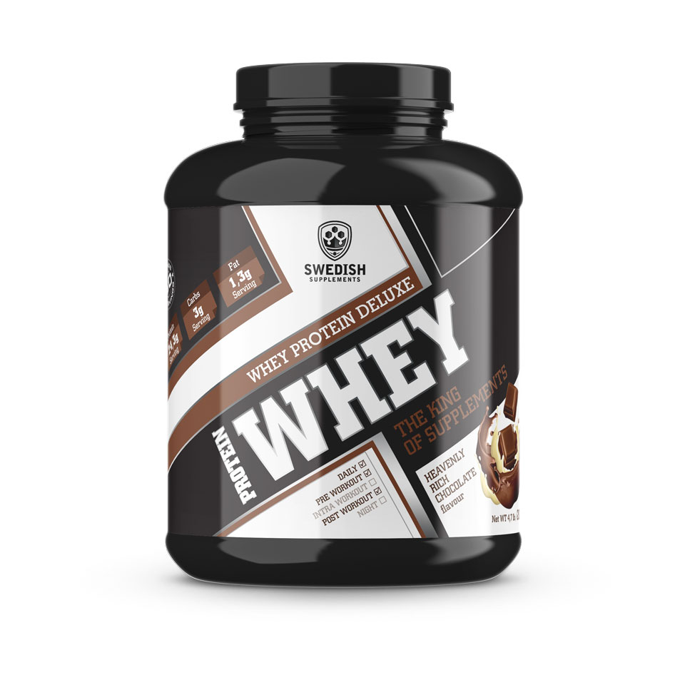 Swedish Supplements Whey Protein Deluxe Heavenly Rich Chocolate 2000 gram - Swedish Supplements