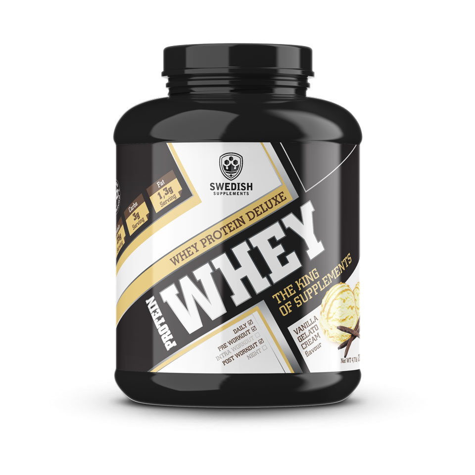 Swedish Supplements Whey Protein Deluxe Vanilla Gelato 2000 gram - Swedish Supplements