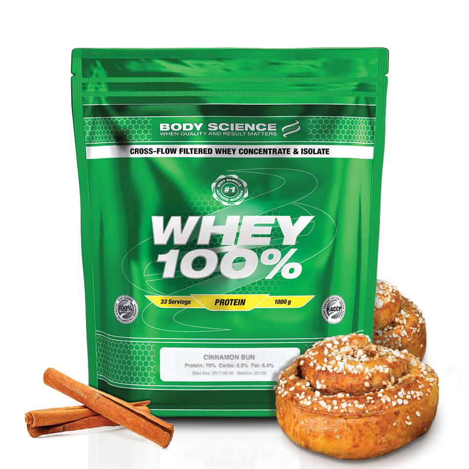 Body Science Whey 100% Cinnamon Bun