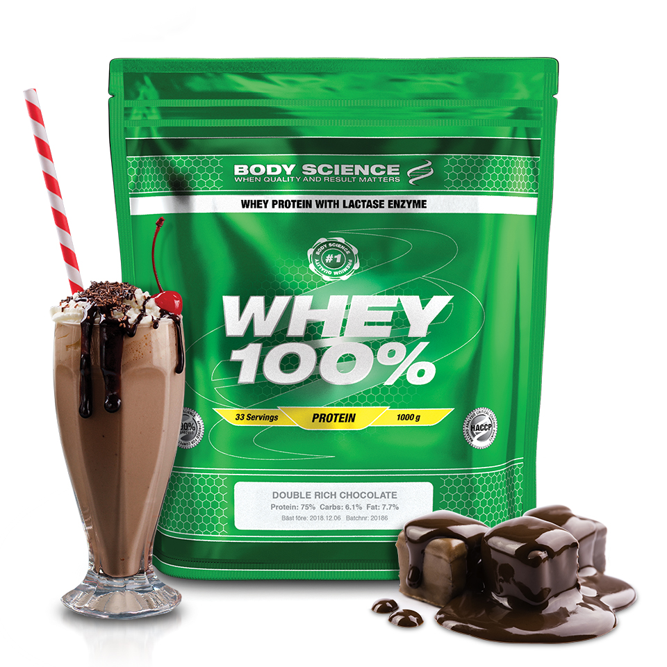 Body Science Whey 100% Double Rich Chocolate 1 kg - Body Science