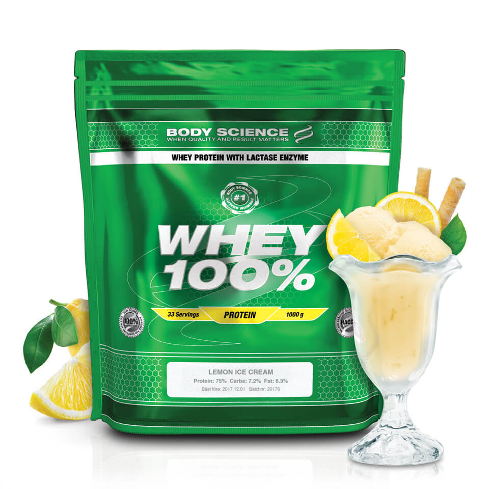 Body Science Whey 100% Lemon Ice Cream