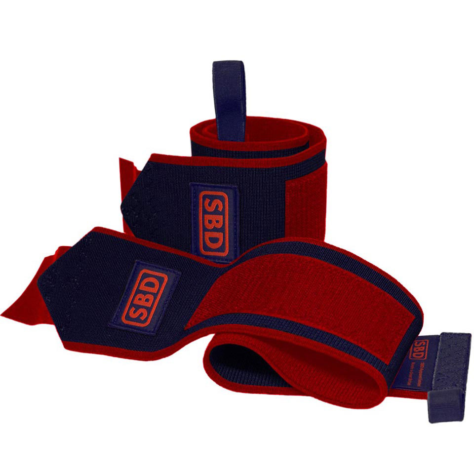 SBD Apparel SBD Wrist Wraps L (1 m) Navy/Red Limited Edition - SBD Apparel
