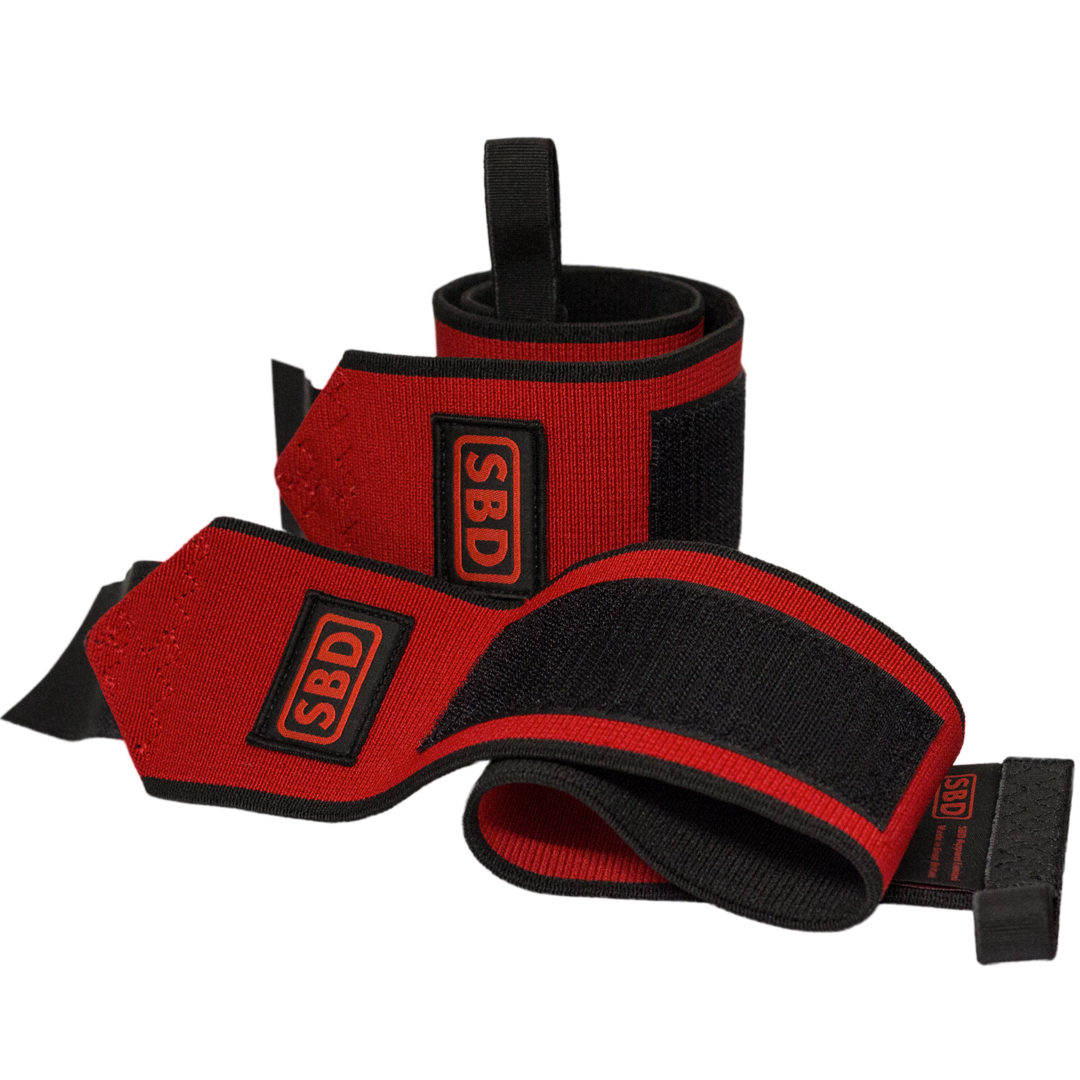 SBD Apparel SBD Wrist Wraps L (1 m) Red/Black - SBD Apparel