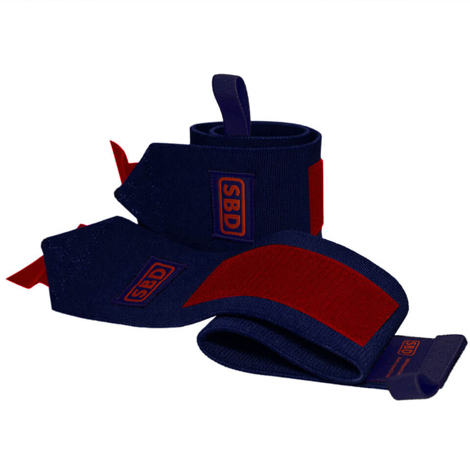 SBD Apparel SBD Wrist Wraps S (40 cm) Navy/Red Limited Edition - SBD Apparel