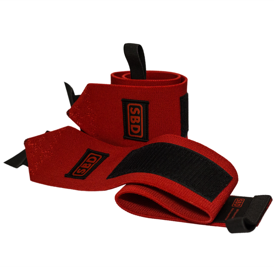 SBD Apparel SBD Wrist Wraps M (60 cm) Red/Black - SBD Apparel