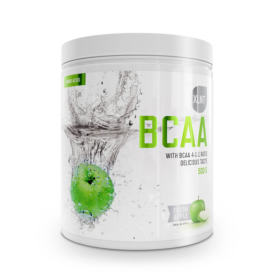 BCAA XLNT Sports, 500 g, Fresh Apple - Aminosyror - XLNT Sports