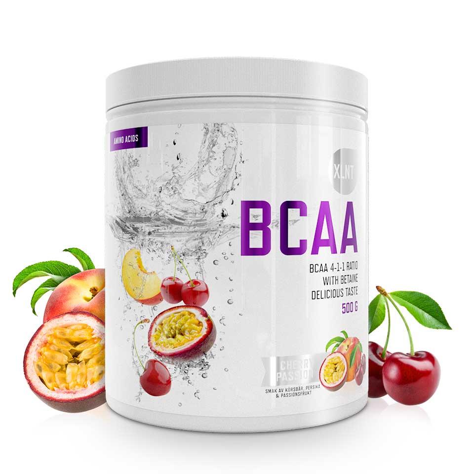 BCAA XLNT Sports, 500 g, Cherry/Passion - Aminosyror - XLNT Sports