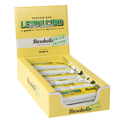Barebells Protein Bar - 12st hel låda Lemon Curd White Chocolate