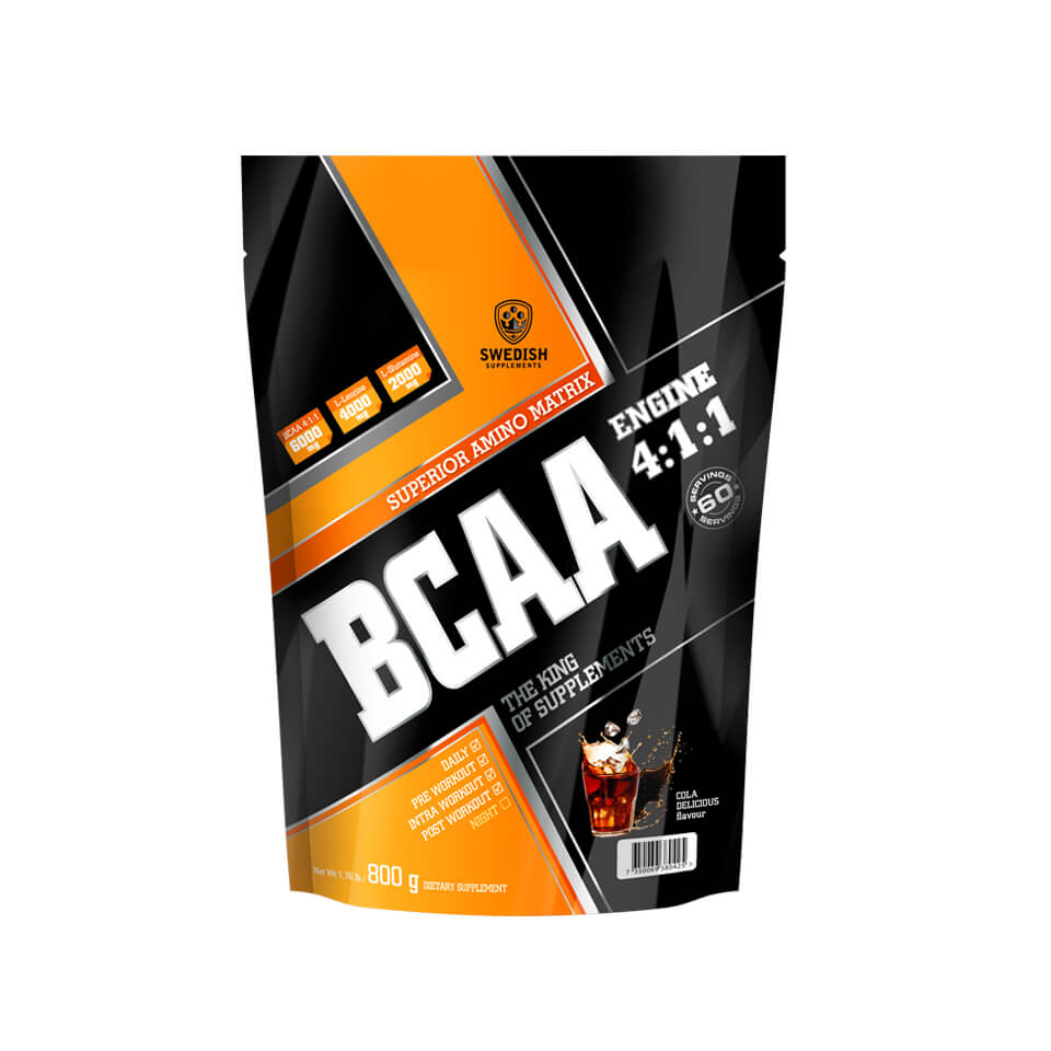 Swedish Supplements BCAA Engine 4:1:1 800 g Cola Delicious