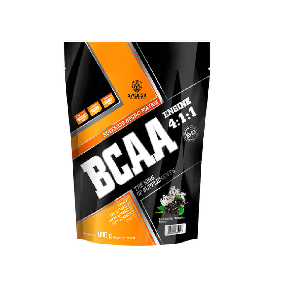 Swedish Supplements BCAA Engine 4:1:1 800 g Elderberry